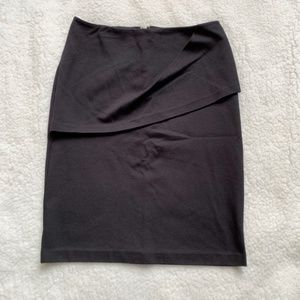 Cabi Black Overlay Pencil Skirt size 6, used for sale